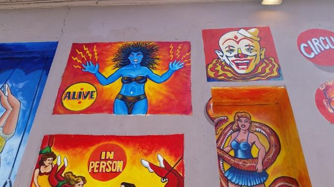 Clown, circus, freakshow, Austin, Texas
