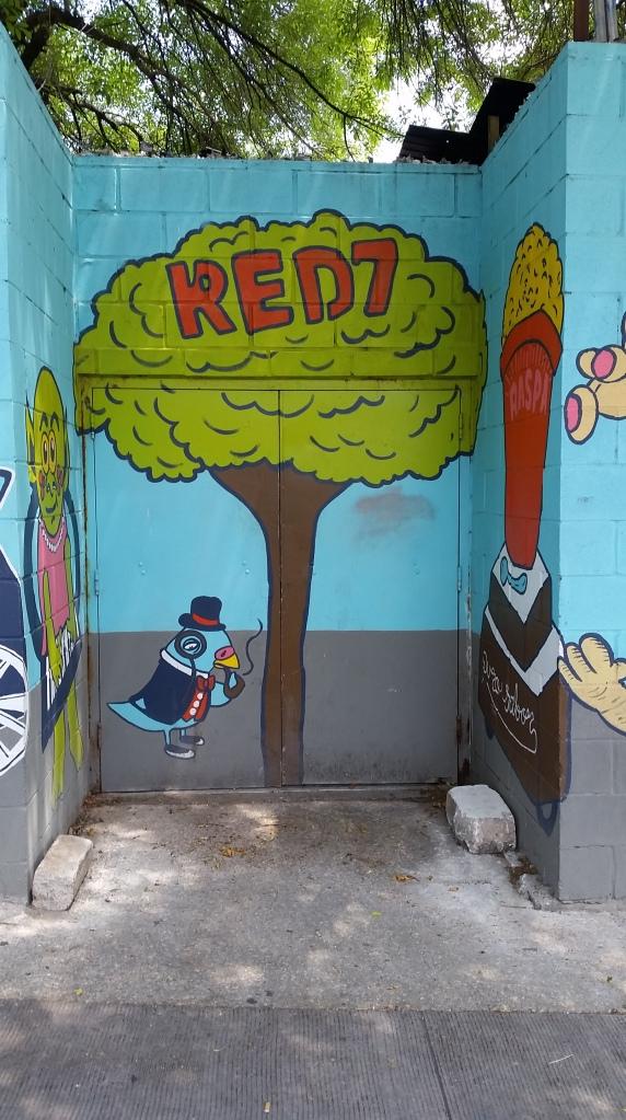 Back alley graffiti, Austin outdoor art, Austin graffiti