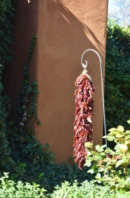 Chili ristras are the go-to decor in New Mexico.