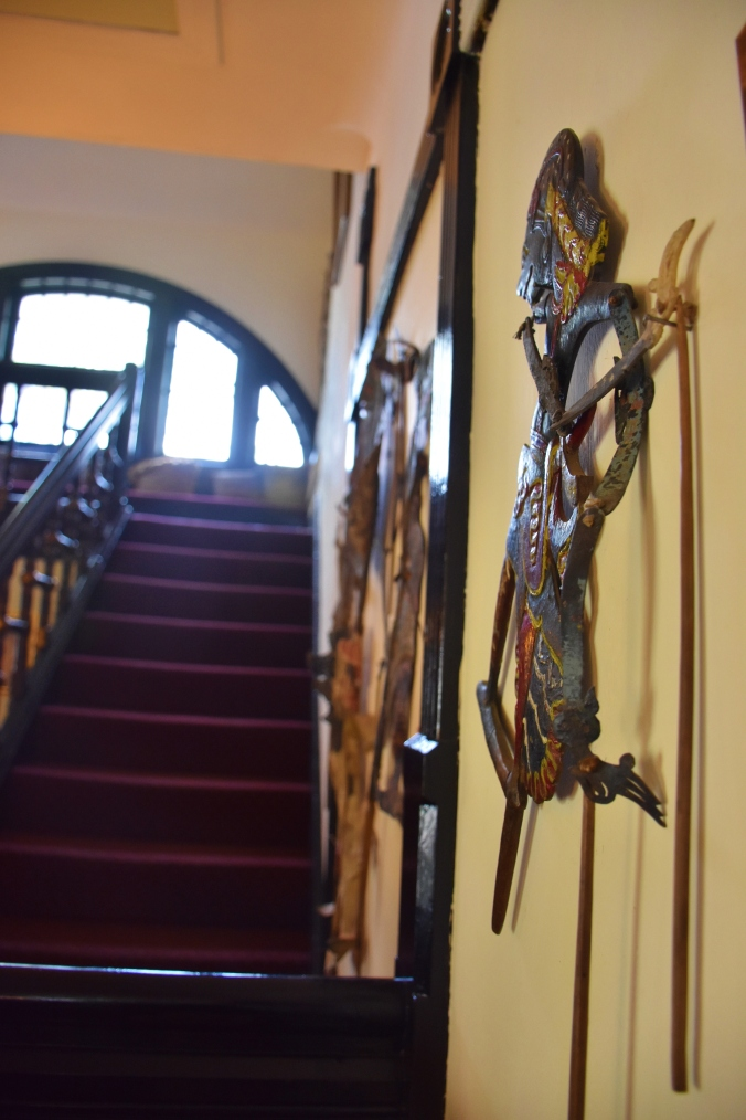 Puppets lined the wall along the staircase to welcome you in and bid you adieu!