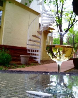 Enjoying and afternoon sesh and white wine.
