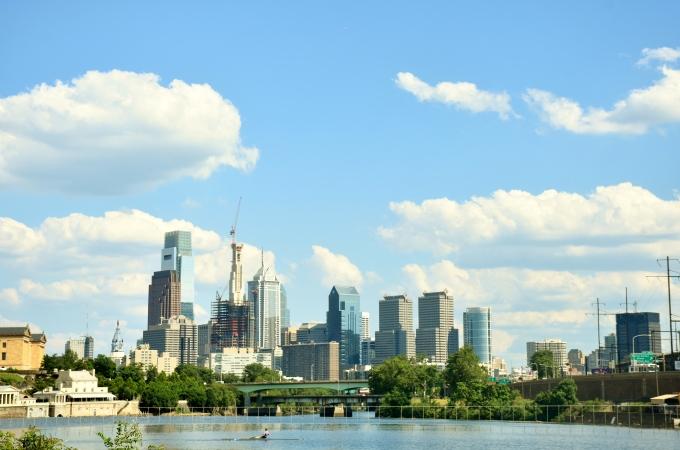 Philadelphia skyline from Boathouse Row