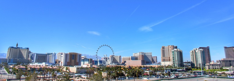 Las Vegas winter skyline