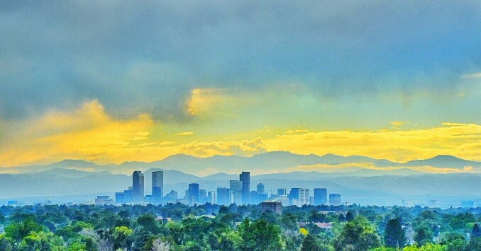 Rocky Mountain Denver skyline