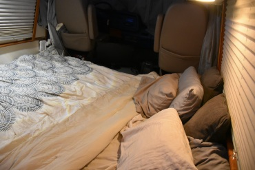 Cali King bed in GMC RV