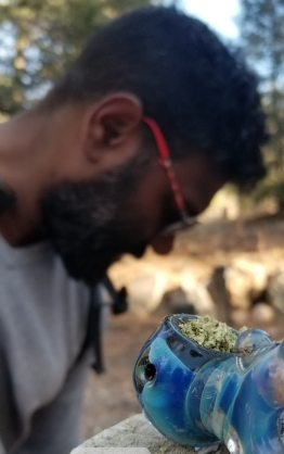 Hiking in the Santa Fe Mountains with cannabis.