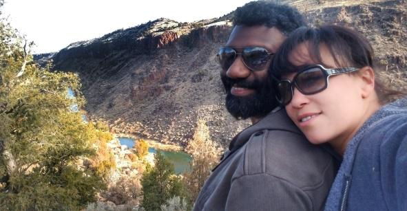 Rio Grande River, View from the top, xennial couple