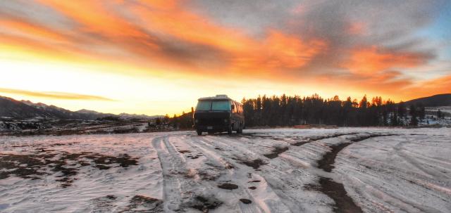 sky, clouds, sunrise, van life, full time van living