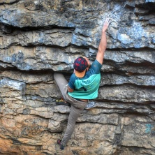 Bouldering in Tijeras Mountains New Mexico