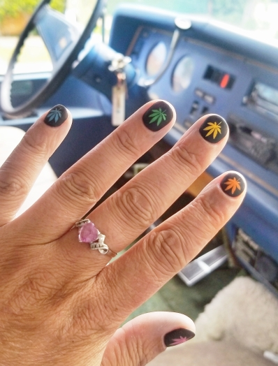 nails done for April 20 weekend