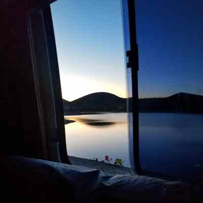 View from 1973 GMC RV at Lake Pleasant